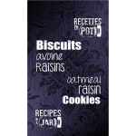 Biscuits avoine raisin